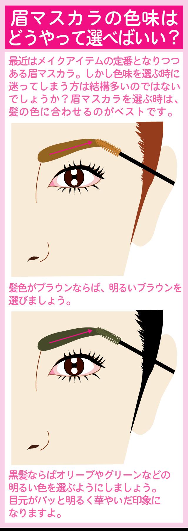 自分に合った眉マスカラの色味の選び方