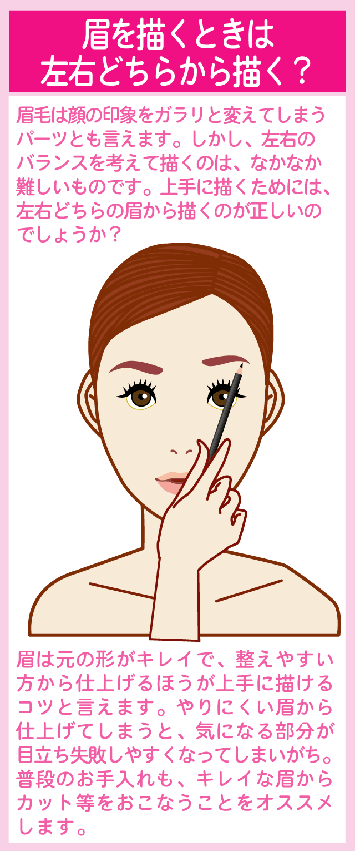 眉メイクの描き始めは左右どちらが正しい?