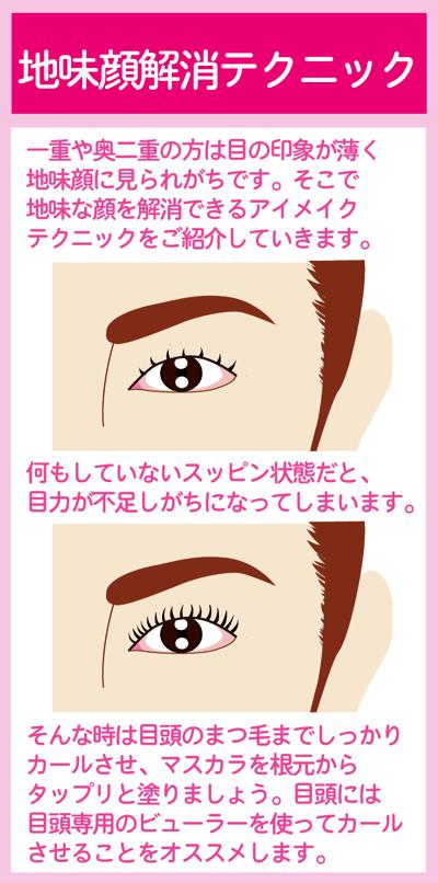 地味顔解消テクニック