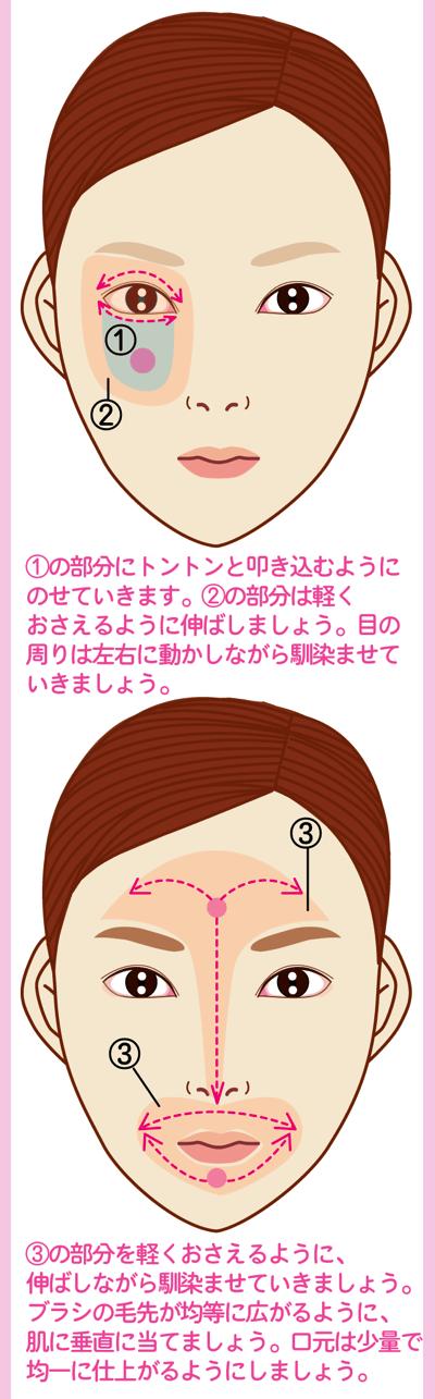 艶肌が作れるファンデーションブラシの使い方2