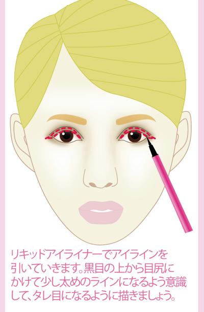 西野カナさん風芸能人メイクの方法7